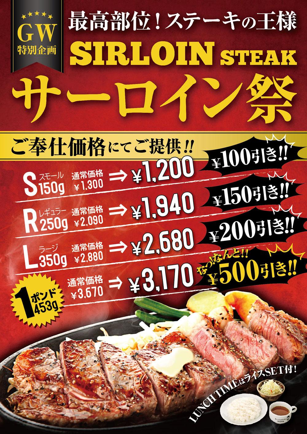 東京サーロインステーキ祭